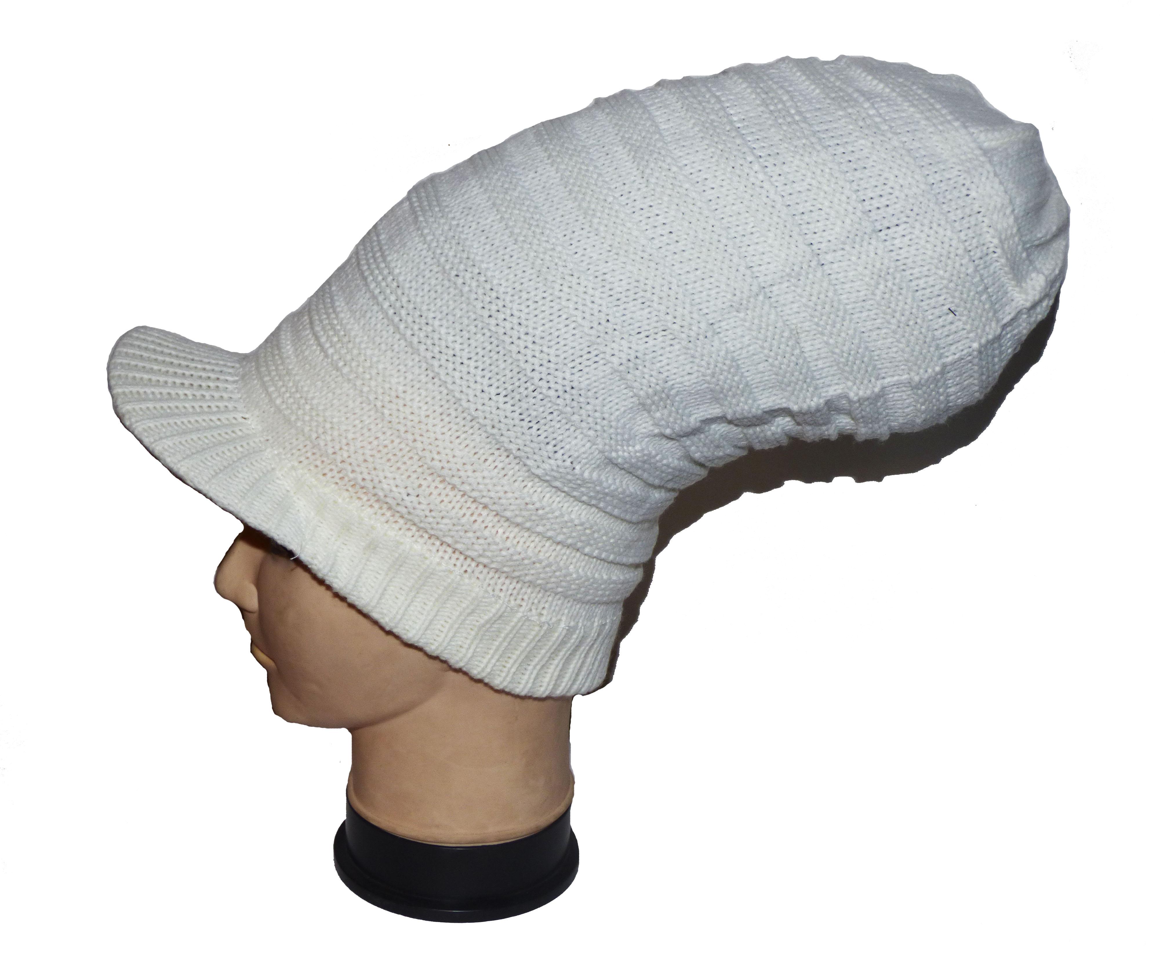 c815000f3cbb4 Bonnet à dreads Blanc avec visière   CED'N CO