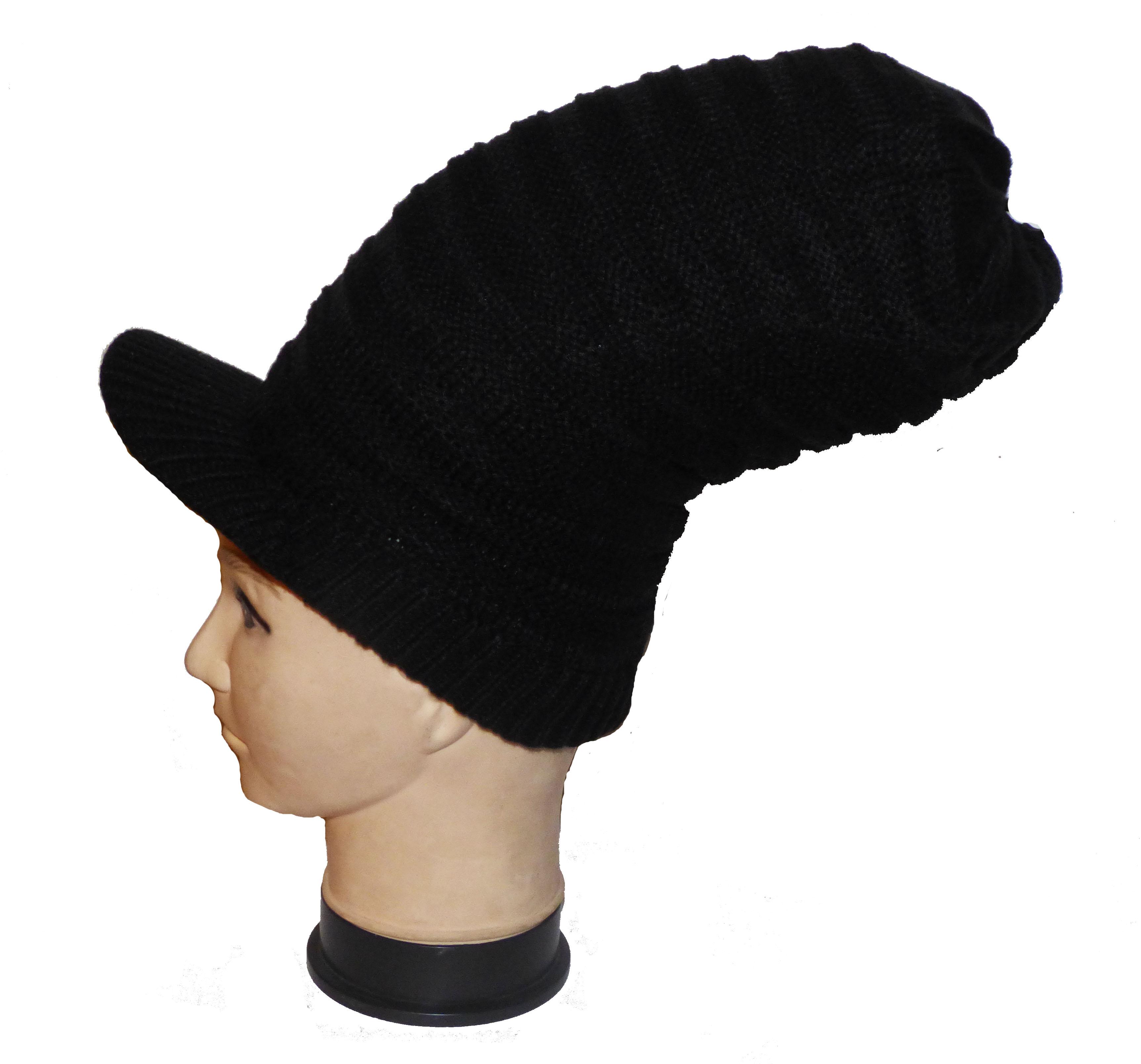 8e57b2b08767a Bonnet à Dreads avec visière Noir   CED'N CO